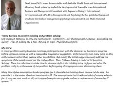 Dr Noel Jones, visiting Professor at Stamford International University, Bangkok, Thailand; and  The National Economics University, Hanoi, Vietnam shared another view about the management thinking mistakes app and his own story