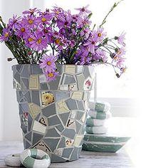 DIY Mosaic Terracotta Plant Pot Holder