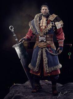 ArtStation - A warrior, moon king