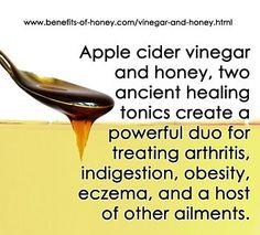 apple cider vinegar and honey image