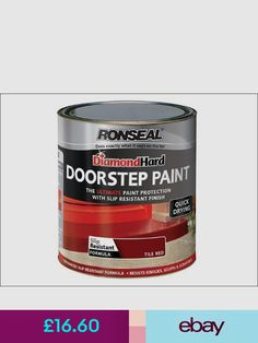 Ronseal Other Paint & Varnish Home, Furniture & DIY Red Tiles, It Is Finished, Shit Happens, Painting, Front Doors, Diy, Furniture, Entry Doors, Entrance Doors