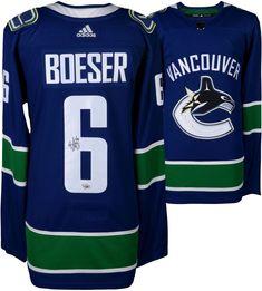 Brock Boeser Canucks Autographed Blue Adidas Authentic Jersey - Fanatics d0c77d551