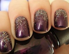 A tamer version of sparkles. I am not actually that into manicures but this is GORGEOUS.