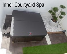 Create your own inner sanctuary - place your spa in an inner courtyard