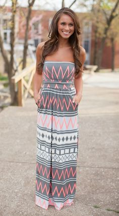 The Pink Lily Boutique - Crushing On Aztec Maxi Grey , $39.00 (http://thepinklilyboutique.com/crushing-on-aztec-maxi-grey/)