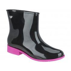 Hunter Feminino Preto Fosco botas de chuva de Borracha de