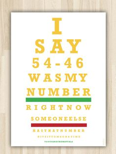 My number, Poster Print Art
