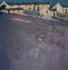 """""""Hill Farm"""" by John Piper Contemporary Landscape, Landscape Art, Landscape Paintings, Contemporary Artists, Seascape Paintings, Watercolor Paintings, Painting Abstract, Acrylic Paintings, Art Paintings"""