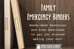 Do you have a Family Emergency Binder at home? Do you always mean to put one together but just haven't had time? Here's a resource to find an emergency binder just for you that you can put together quickly - includes fabulous ready-made binders and free downloads.