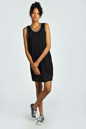Carlie Airtex Insert Bodycon Dress