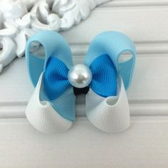 Princess Girl Hair Bow  Glass Slipper by cococamila on Etsy, $4.50
