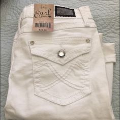White Shorts White shorts above the knee with studded buttons. NWT Earl Jean Shorts Jean Shorts