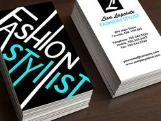 Fashion Stylist Business Card Template