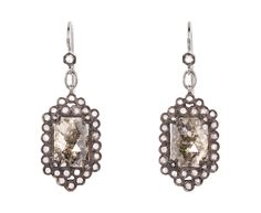 rustic diamonds surrounded by a filagree of rose cut diamonds, one-of-a-kind by cathy waterman