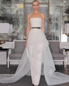 Amdml Chic Elegant Simple Sheath Horsehair Peplum Wedding Dress 2017 Luxe Bridal Strapless Straight Across Neck Robe De Mariage