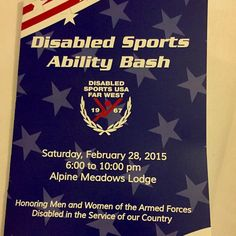 Had a great time tonight honoring a cause near and dear to the Shalvis family's heart!! #DisabledSports #WoundedWarriors