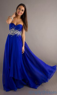 Gorgeous Royal Blue Sequin Pageant Dress Long Strapless Red Carpet ...