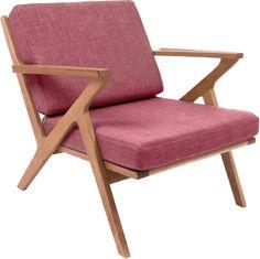 Rest stoel eik / roze - Leitmotiv