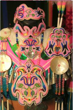 Native American beadwork made by Tee Shawne of Oklahoma City, Oklahoma.