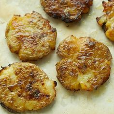 "Pop-Squish Roasted Potatoes. Potatoes with a ""Chicago"" reference? Yes, please!!!"