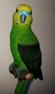 Wand Parkiet op stok 31 cm groen - 8717775910244 - Avantius