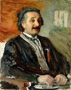 Portrait of Albert Einstein, by Leonid Pasternak . Pasternak lived in Berlin from Ilya Repin, Russian Painting, Russian Art, E Mc2, Jewish Art, Artist Names, Albert Einstein, Painting & Drawing, 1920s