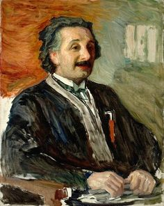 Portrait of Albert Einstein in the 1920s. Artist: Leonid Pasternak (1862-1945)