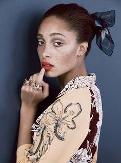 Adwoa Aboah by Patrick Demarchelier, Vogue, December 2013