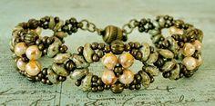 Linda's Crafty Inspirations: Bracelet of the Day: Eclipse Bracelet - Chalk Copper