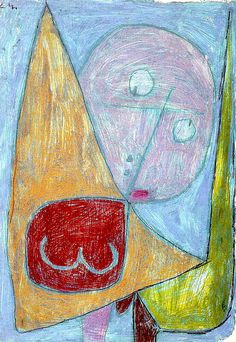 Paul Klee 'Angel Still Feminine' (Engel, noch weiblich). 1016. Kreide auf Grundierung auf Papier auf Karton. Zentrum Paul Klee, Bern. © Foto: Zentrum Paul Klee, Bern