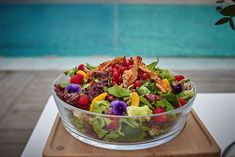 Colorful Salad Acai Bowl, Brunch, Salad, Colorful, Dinner, Breakfast, Food, Acai Berry Bowl, Dining