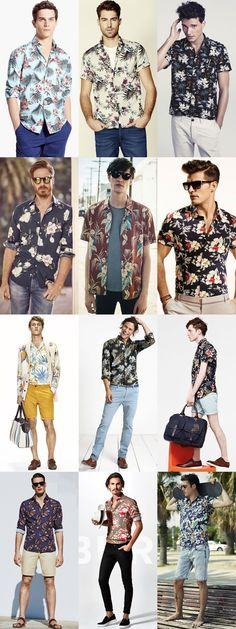 Men's Floral and Hawaiian Shirts Outfit Inspiration Lookbook #mensoutfitsspring