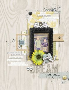1 photo + stitching + journaling