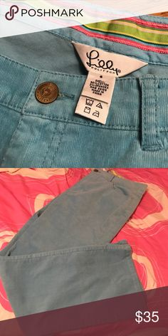 Lilly Pulitzer corduroy pants Sz 6. Bootcut. Excellent condition Lilly Pulitzer Pants