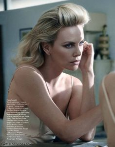 Charlize Theron, photographer Mark Seliger for Elle, France, January 2012 Charlize Theron Style, Charlize Theron Oscars, African Actresses, Actors & Actresses, Mark Seliger, Diana Krall, Beautiful People, Beautiful Women, Editorial
