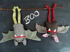 wenn selbst genähte Fledermäuse in der Wohnung hängen, ist wohl Halloween!