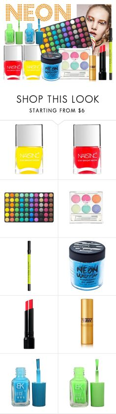 """NEON everything"" by stavhalfon2013 on Polyvore featuring beauty, Nails Inc., BHCosmetics, Urban Decay, Medusa's Makeup, Bobbi Brown Cosmetics and Lipstick Queen"