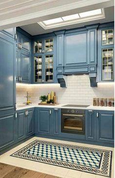Design Room, Home Interior, Kitchen Interior, Interior Design Living Room, Condo Kitchen, Kitchen Remodel, Kitchen Decor, Kitchen Cabinets, Kitchen Ideas