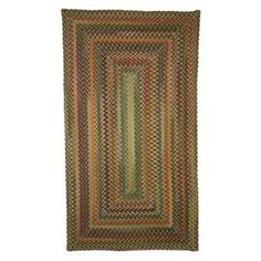 Sherwood Forest Concentric 0980 Braided Rectangle Area Rug - Amber - 0980QS04000600150