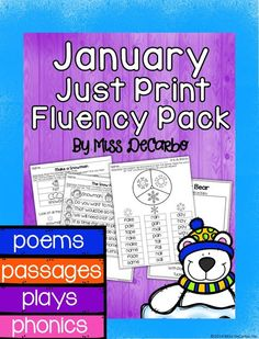 "Fluency practice should be fun! This winter themed pack contains 20 fluency activities for your beginning readers. Take back your planning time with ""just print,"" ink-friendly pages to promote reading fluency, comprehension, and reading engagement. Fluency Activities, Small Group Activities, Winter Activities, Teaching Skills, Teaching Ideas, Small Group Reading, Fluency Practice, Snow Theme, Primary Classroom"