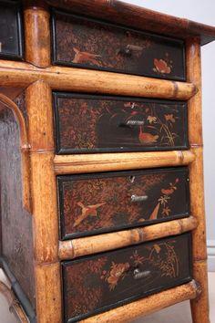 Victorian Antique Bamboo Writing Desk - Antiques Atlas