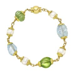 Shop diamond and gold more bracelets and other vintage and antique bracelets from the world's best jewelry dealers. Candy Jewelry, Gems Jewelry, Hair Jewelry, Pearl Jewelry, Jewelry Gifts, Beaded Jewelry, Pearl Gemstone, Gemstone Necklace, Beaded Necklace