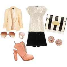 Adorable summer outfit minus the shoes! Not for me! The rest I love