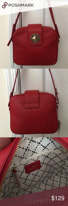 KS Chrystie Street Crossbody Shoulder Bag NWT Kate Spade New York Chrystie street in pillbox red. Really cute and roomy. This is new with tags attached. 24K gold hardware. kate spade Bags Crossbody Bags