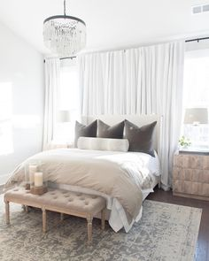32 + The Ideal Approach to White Linen Curtains Curtains, Bedroom Curtains - nyamanhome Bed Against Window, Window Behind Bed, Wall Behind Bed, Curtains Behind Bed, Bed Wall, Wall Of Curtains, Net Curtains, Bedroom Curtains, Bedding Master Bedroom