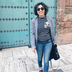 Buenos días de lunes... perdón de martes. #ファッション #murcia #vsco #女の子 #fashion #cacheada #ootd #cachos #curlyhair #look #outfit #inspo #amerindiascloset #morning#bloggermurcia#abmspring #abmlifeiscoloful #stripped #streetstyle #blazerzara #zarawoman #spanishbrand