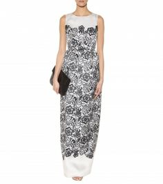 Dolce & Gabbana - Lace-print silk-organza gown - mytheresa.com GmbH