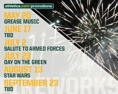 #OaklandAthletics have six fireworks nights planned for 2016!  http://atmlb.com/1VkkDlJ