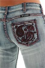 Cowgirl Tuff Women's Red Paisley Boot Cut Jeans | Women's Jeans