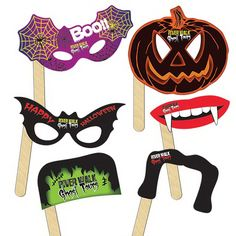 Halloween Selfie Kit - Digitally printed Halloween Selfie Kit